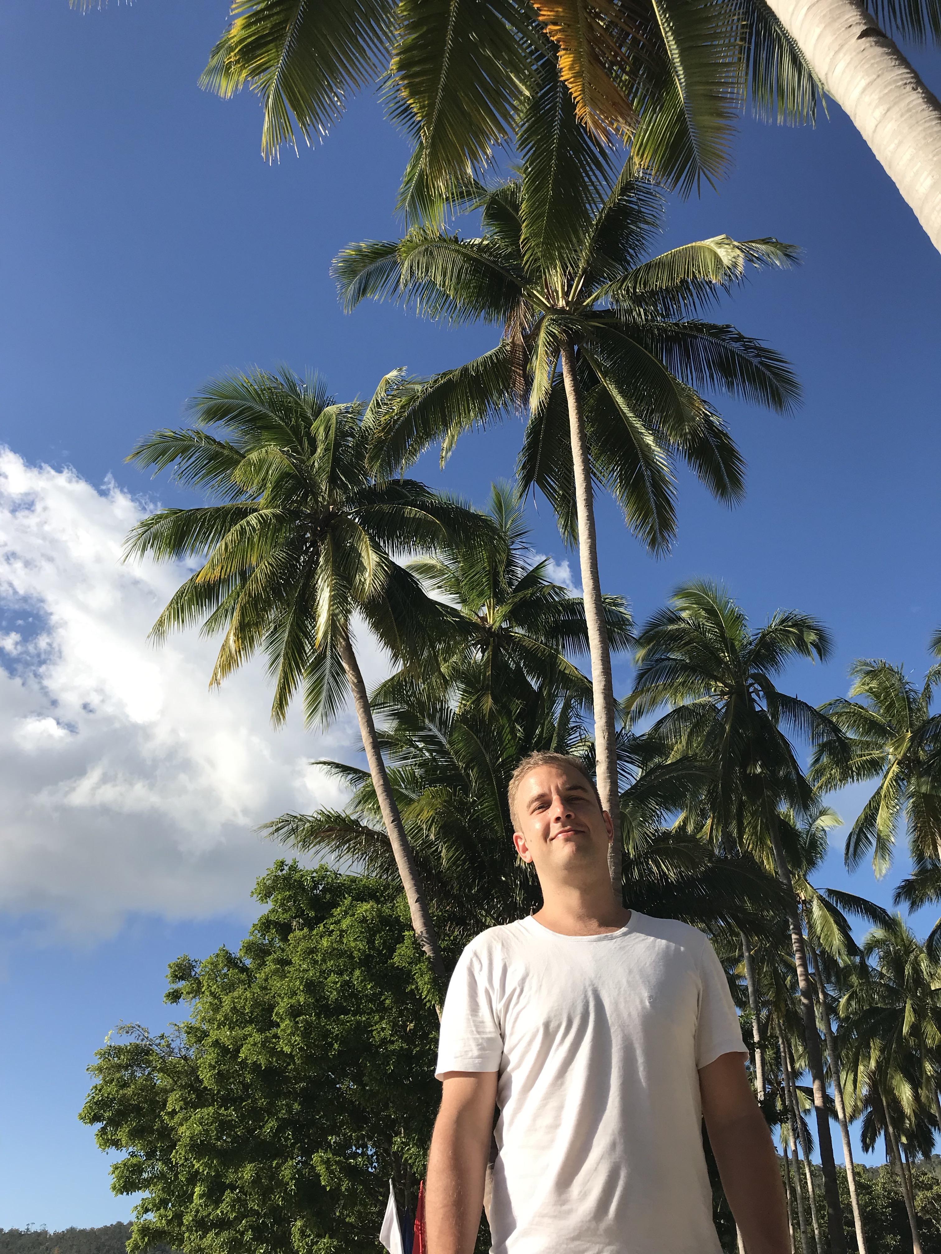 palme-cielo-azzurro-nagtabon-beach-palawan