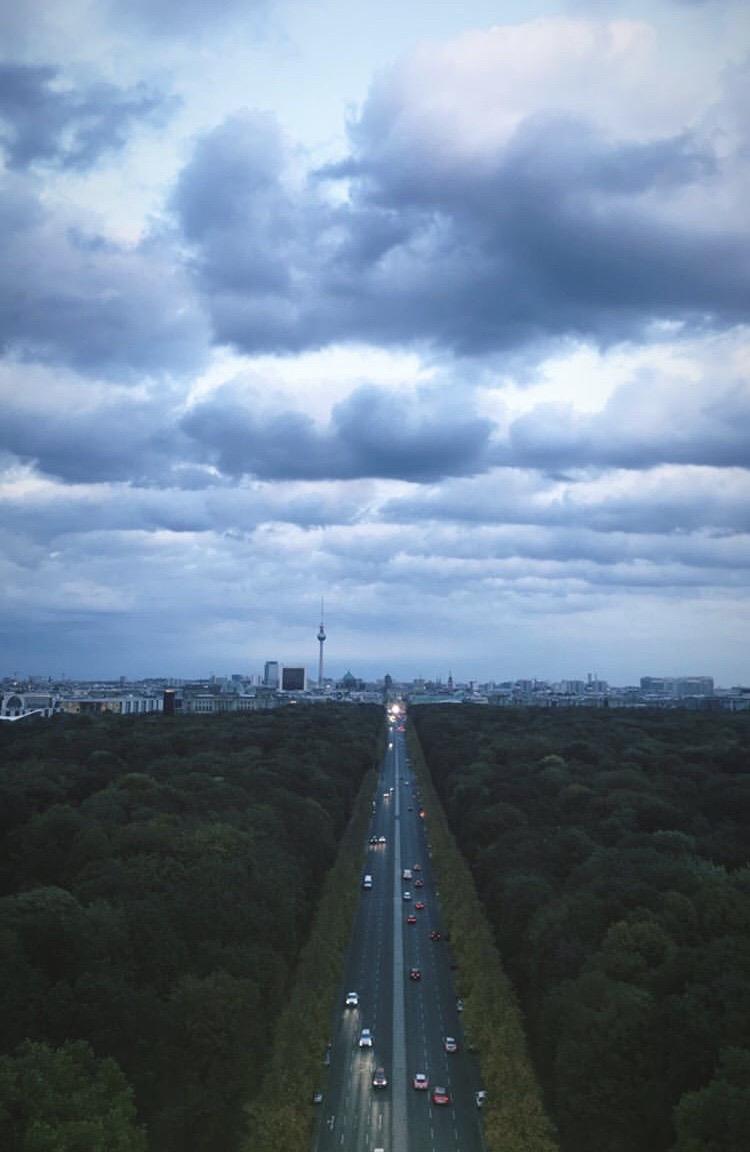 vista-tiergarten-berlino-siegessäule