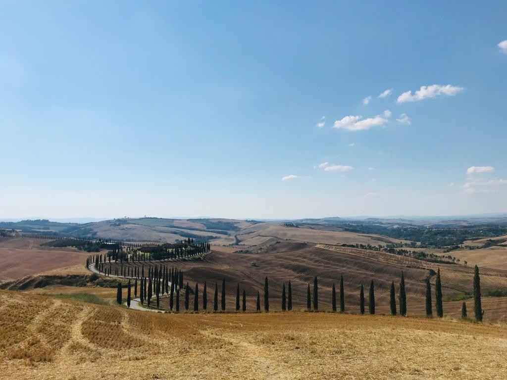 Cartoline dalla Val d'Orcia - Asciano, Toscana, Italia