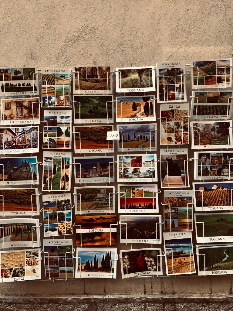 Cartoline dei paesaggi toscani - Massa Marittima, Toscana, Italia