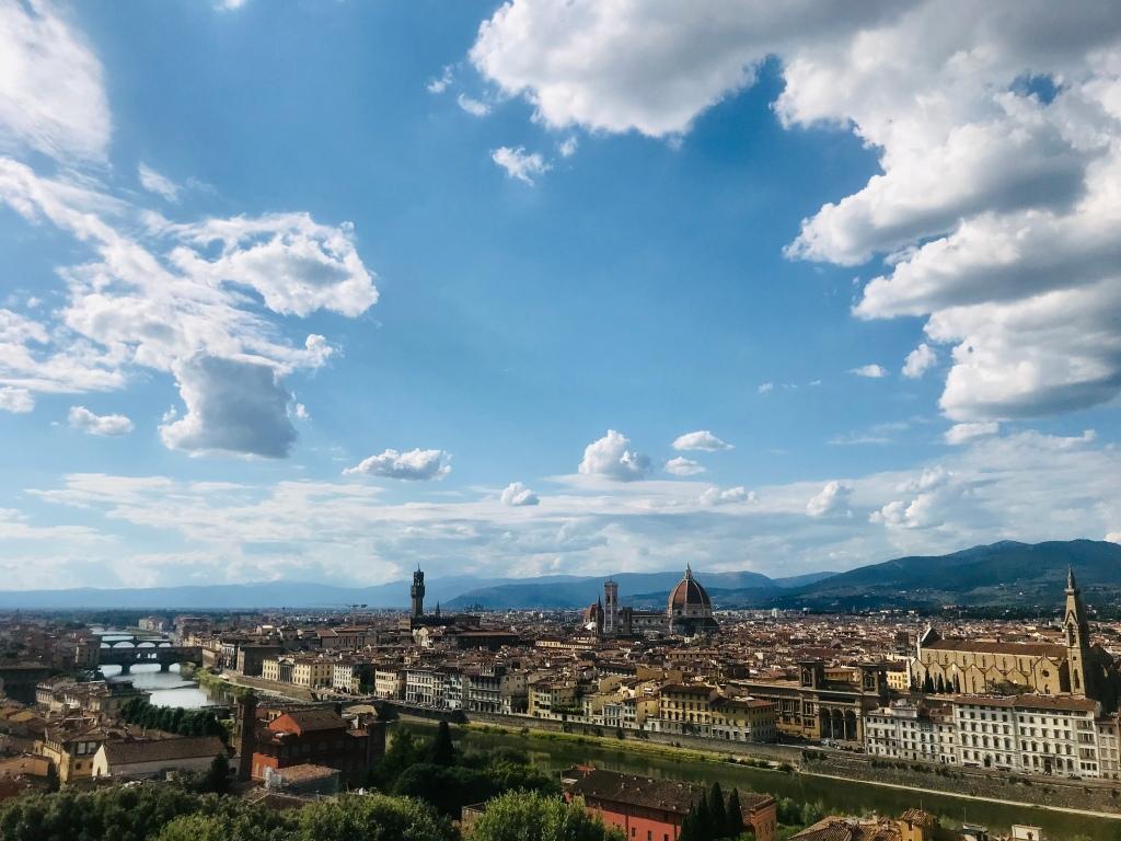 La vista sulla città da Piazzale Michelangelo - Firenze, Toscana, Italia