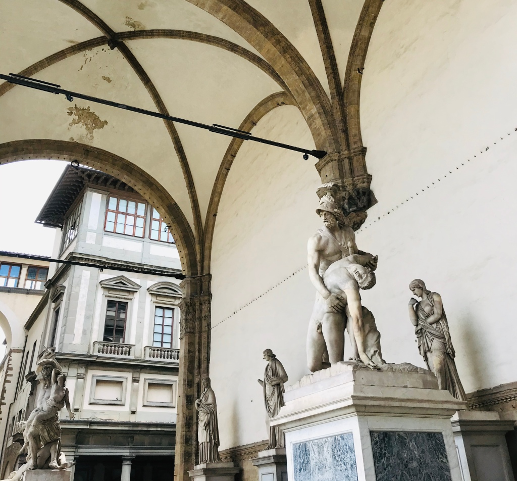 La Loggia dei Lanzi, in Piazza della Signoria - Firenze, Toscana, Italia