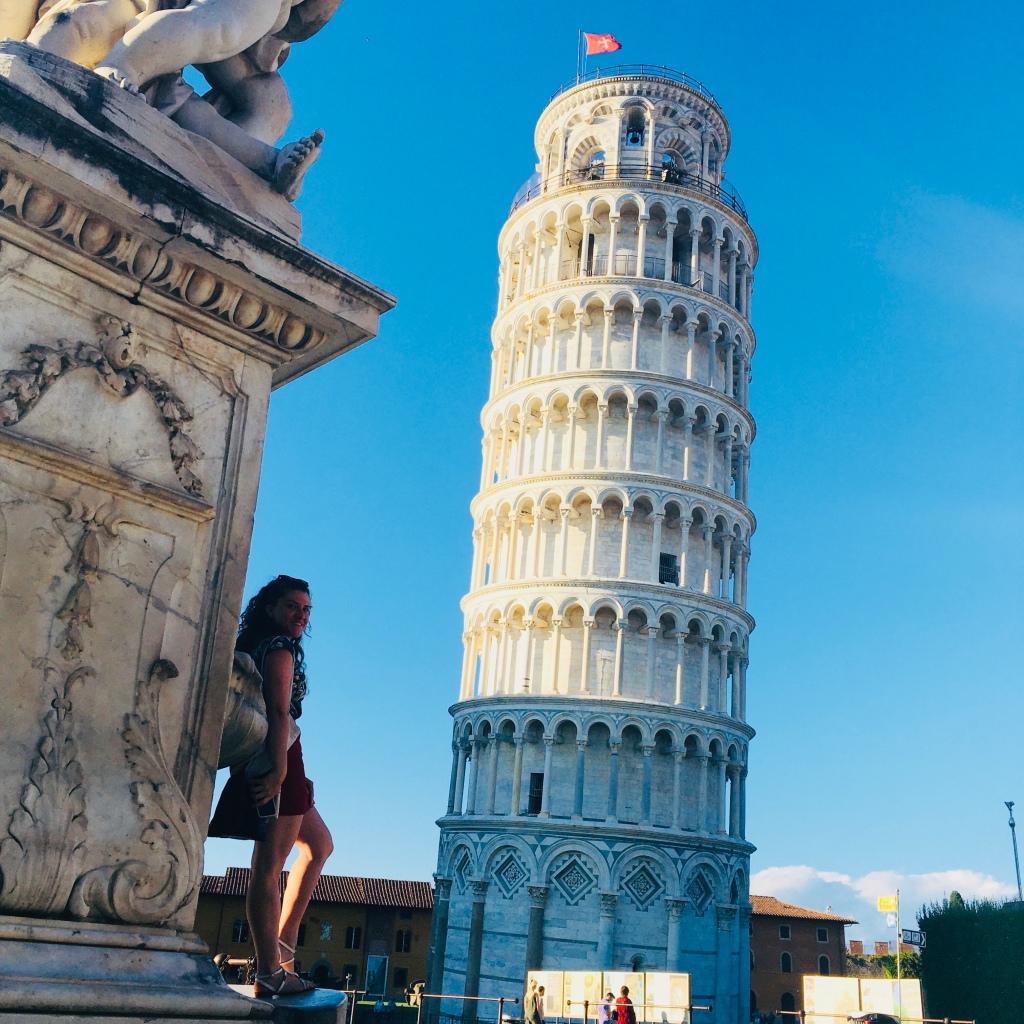 La torre pendente più famosa al mondo, la Torre di Pisa - Pisa, Toscana, Italia