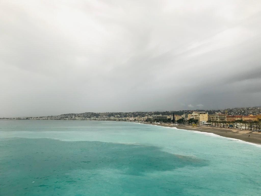 Il Mar Mediterraneo, splendido anche con il brutto tempo - Nizza, Costa Azzurra, Francia