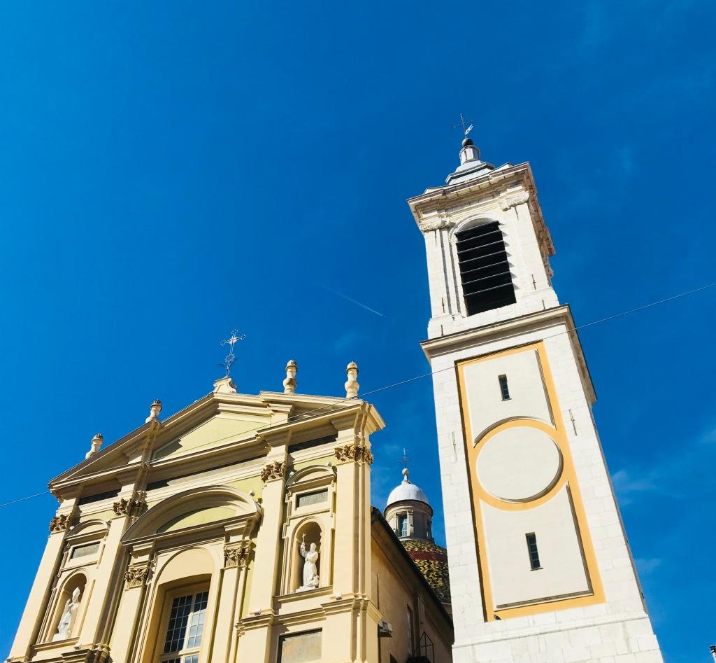 La facciata della Cathédrale Sainte-Réparate de Nice - Nizza, Costa Azzurra, Francia