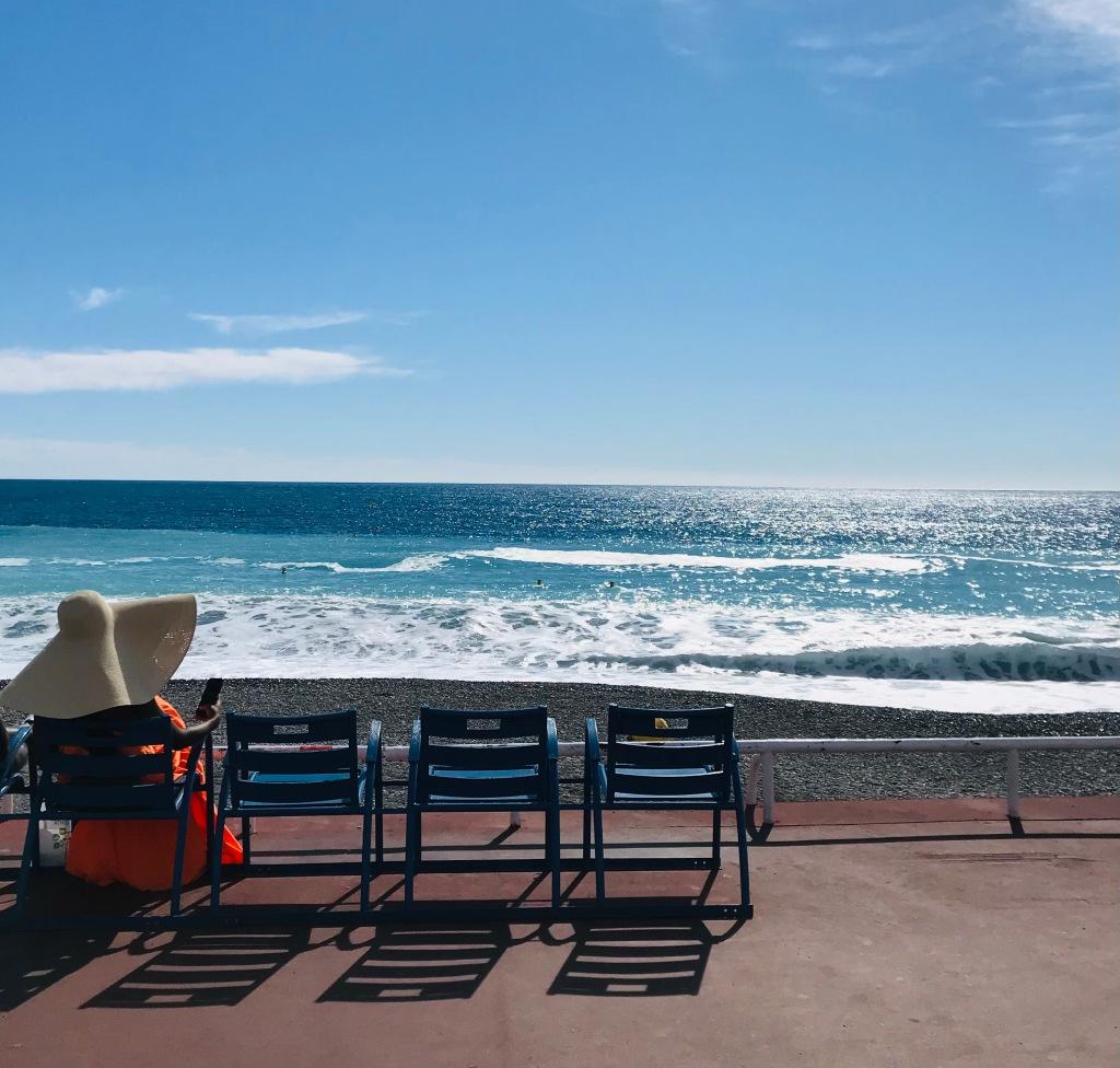 Selfie time sulla Promenade des Anglais - Nizza, Costa Azzurra, Francia