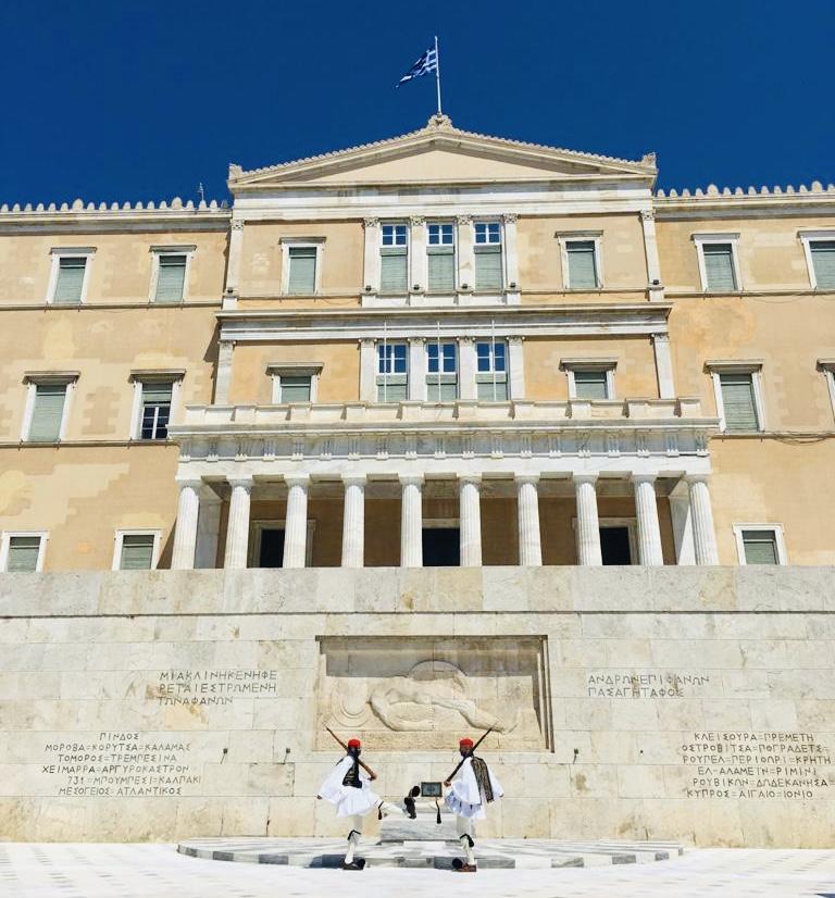 Il cambio della guardia, una speciale tradizione - Atene, Grecia