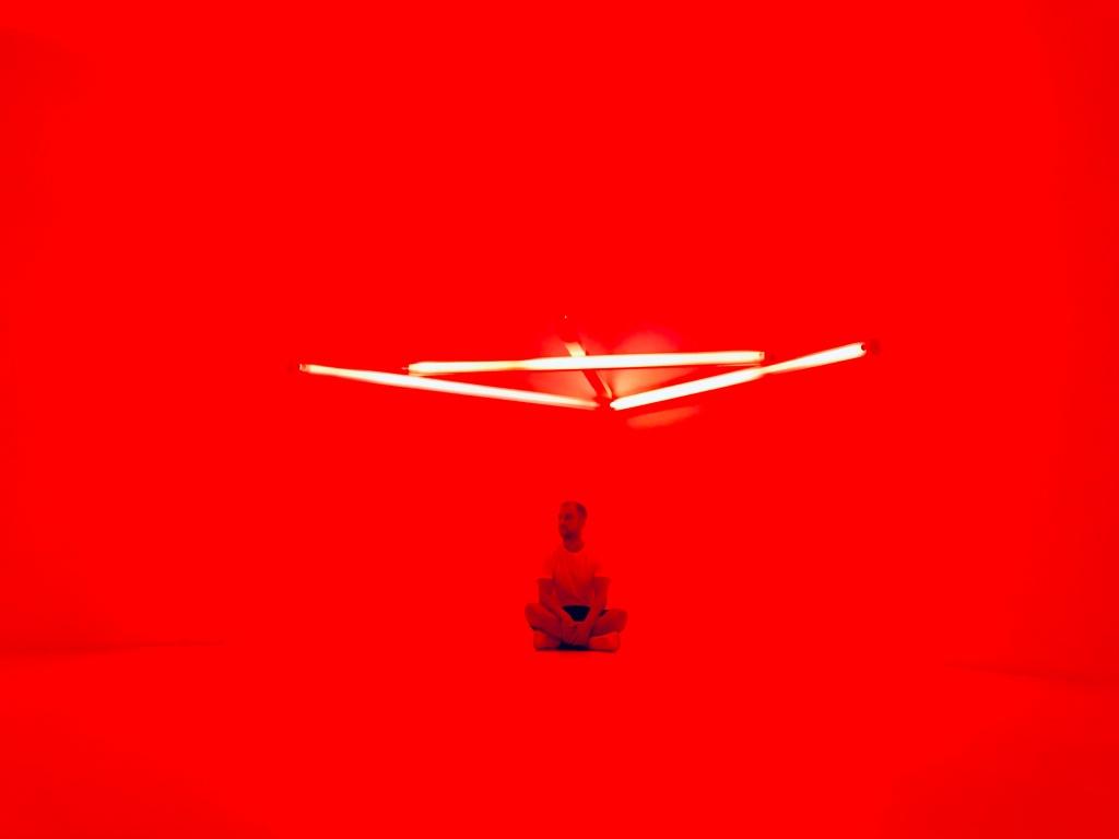 Giochi di luce nella spettacolare Ala dei Rustici - Villa e Collezione Panza, Varese, Italia